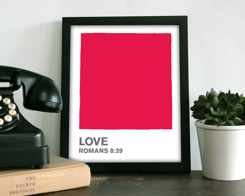 Love Red Color Swatch- Art Print