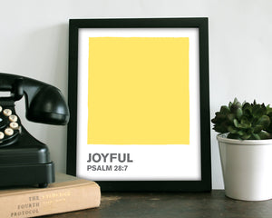 Joyful Yellow Color Swatch- Art Print