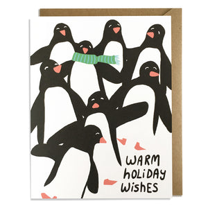 Penguin Parade - Christmas Card