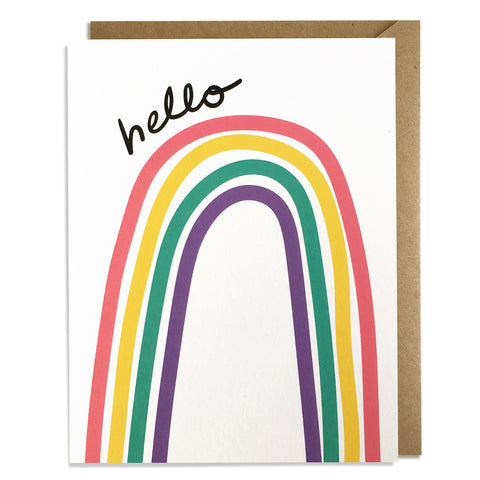 Rainbow Hello - Everyday Card