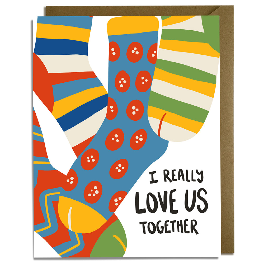 Socks Together - Love Card