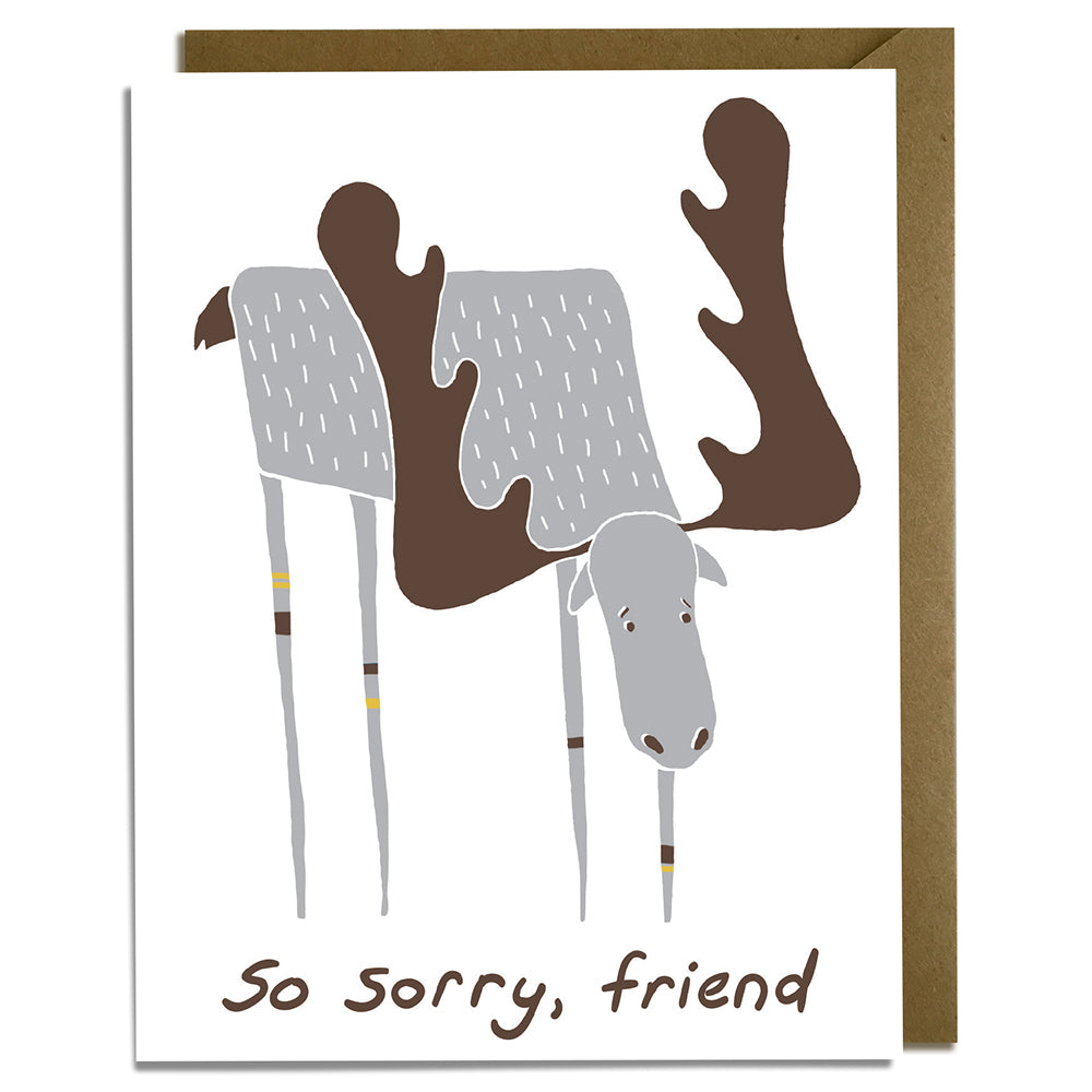 Sorry, Friend - Moose Sympathy Card