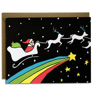 Space Santa - Christmas Card