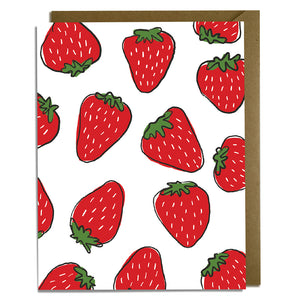 Strawberries Blank Everyday Card