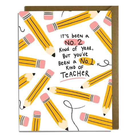 No. 1 Teacher Card