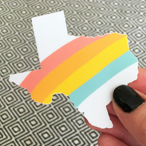 Texas Rainbow Sticker