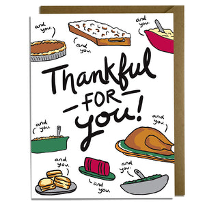 Thankful For You - Thanksgiving Card