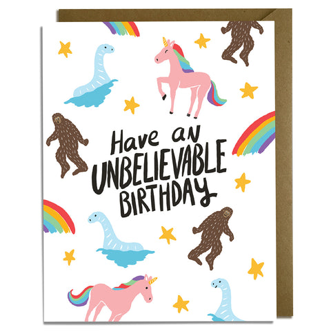 Unbelievable Bigfoot Birthday Card