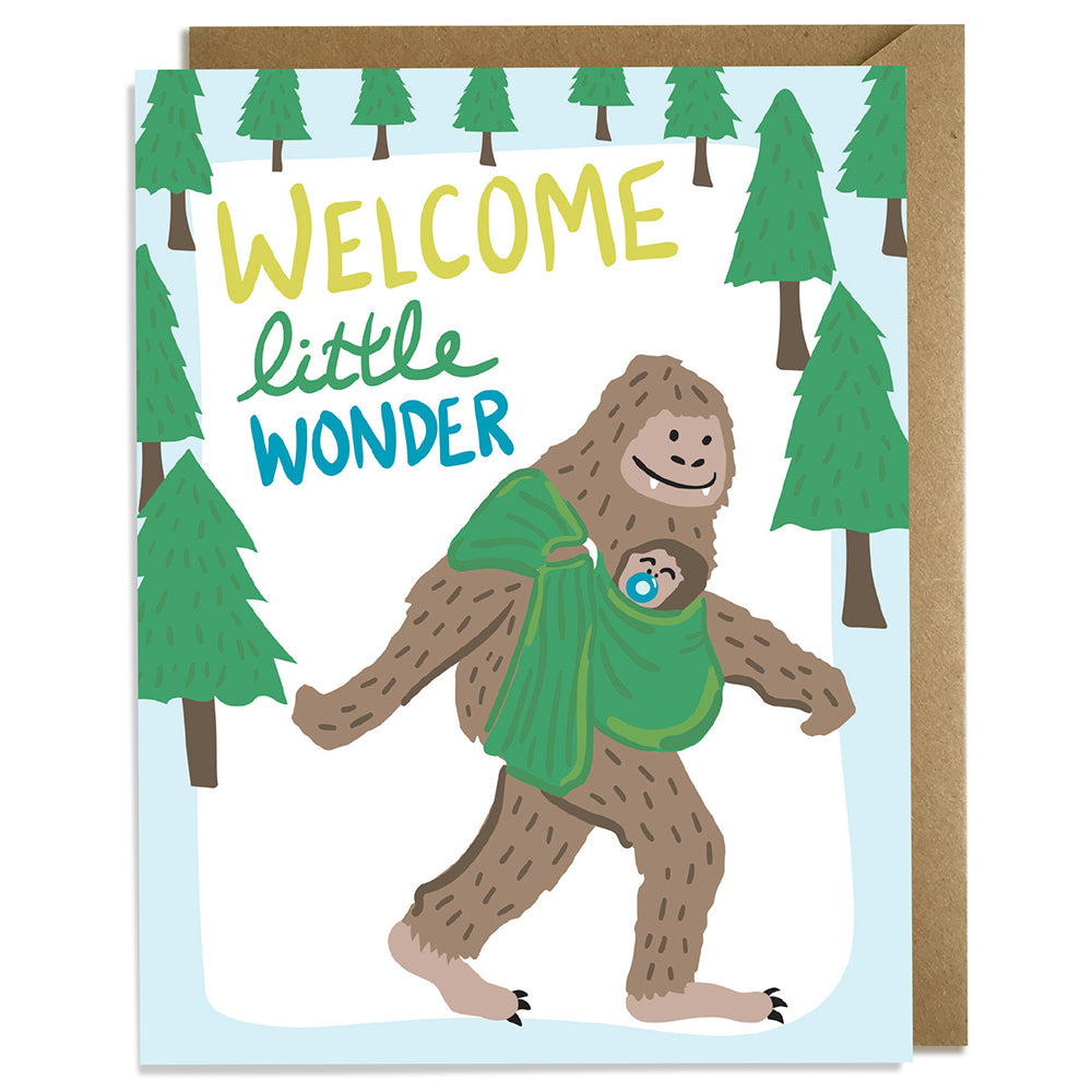Welcome Little Wonder - Baby Card