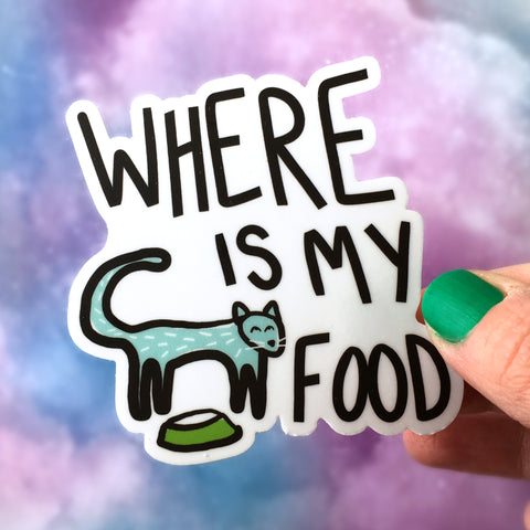 Where Is My Food Cat Sticker