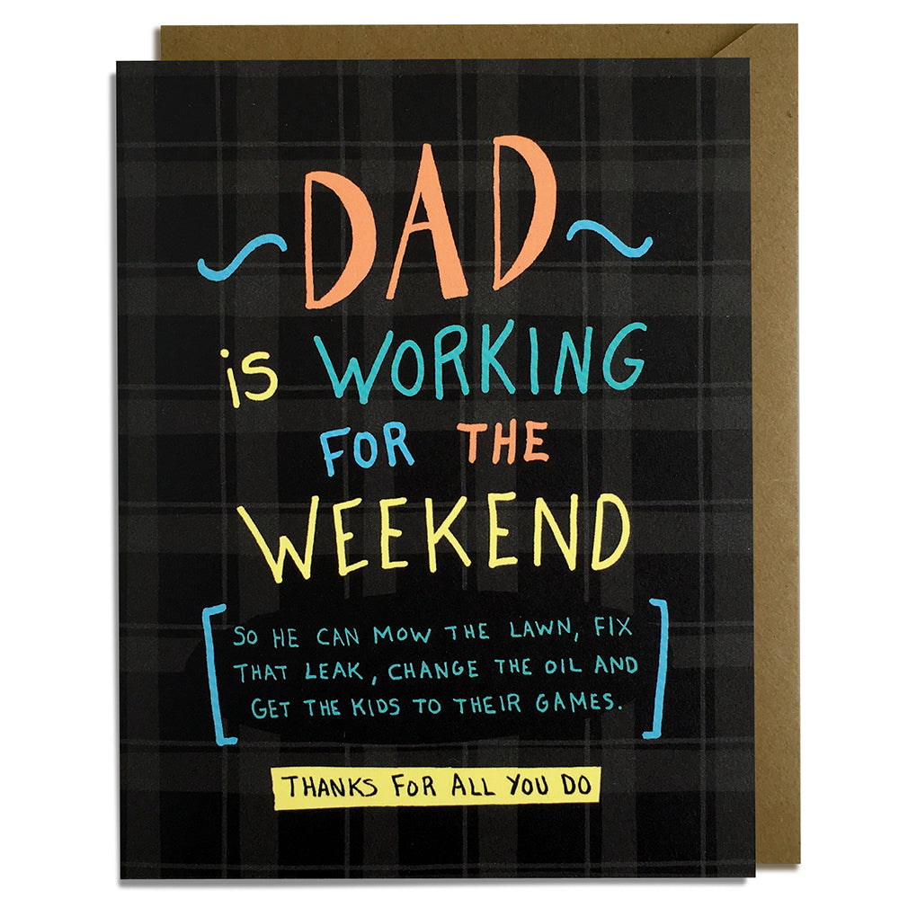 Working for the Weekend - Father's Day Card