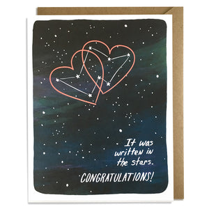 Written in the Stars - Wedding Card