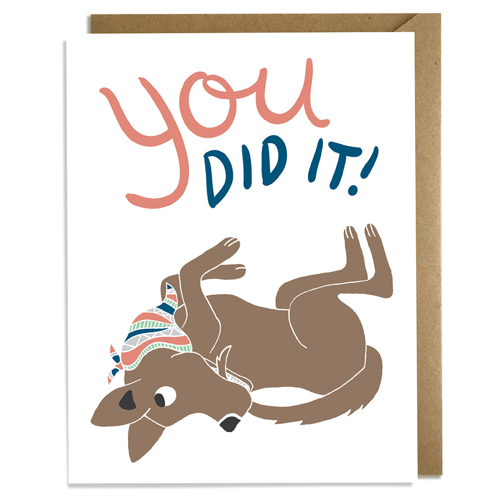 You Did It! - Congrats Card