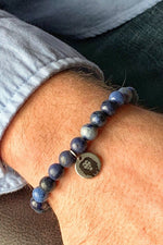 Men's Dumortierite Beaded Bracelet - 8mm