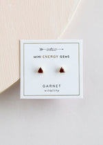 Garnet Mini Energy Gem Earrings