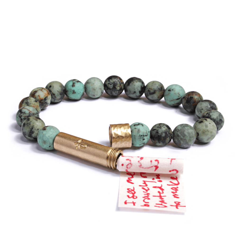 Matte African Turquoise Intention Bracelet