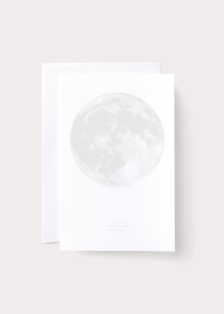 Love Moon Greeting Card