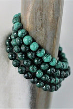 Malachite Beaded Bracelet - 7-8MM