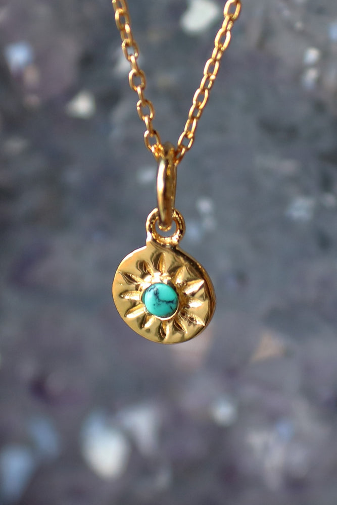 Turquoise Compass Rose Necklace