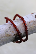 Red Agate Beaded Bracelet - 4MM