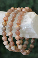 Moonstone Beaded Bracelet - 8MM