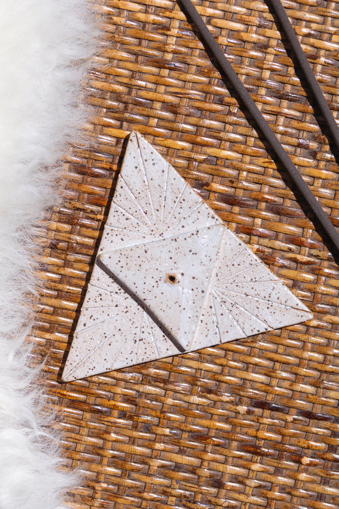 Ceramic Triangle Incense Burner