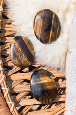 Blue Tiger Eye Worry Stone