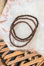 Smoky Quartz Beaded Bracelet - 4mm