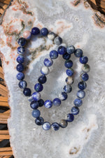 Sodalite Beaded Bracelet - 8mm