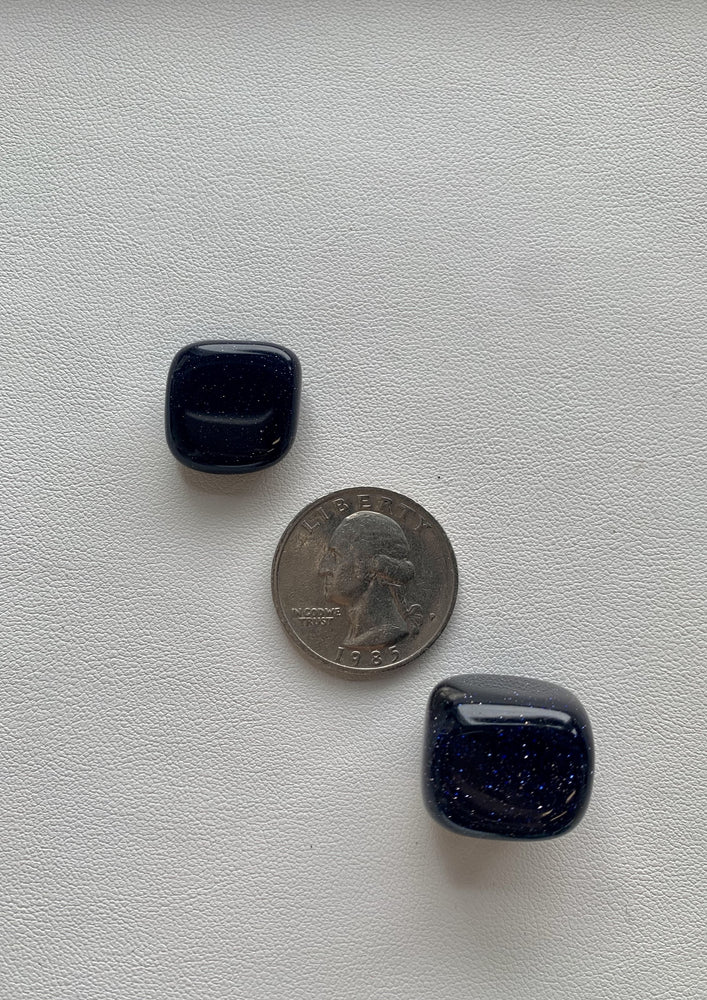 Blue Goldstone Tumbled Stone