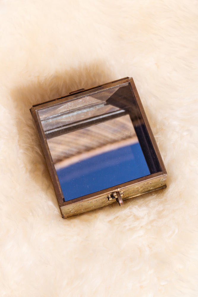 Aria Mirrored Brass Box
