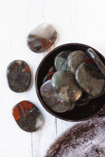 Bloodstone Jasper Smooth Stone