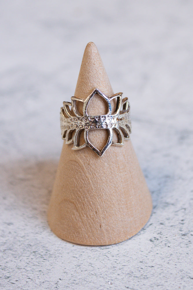 Lotus Crown Ring