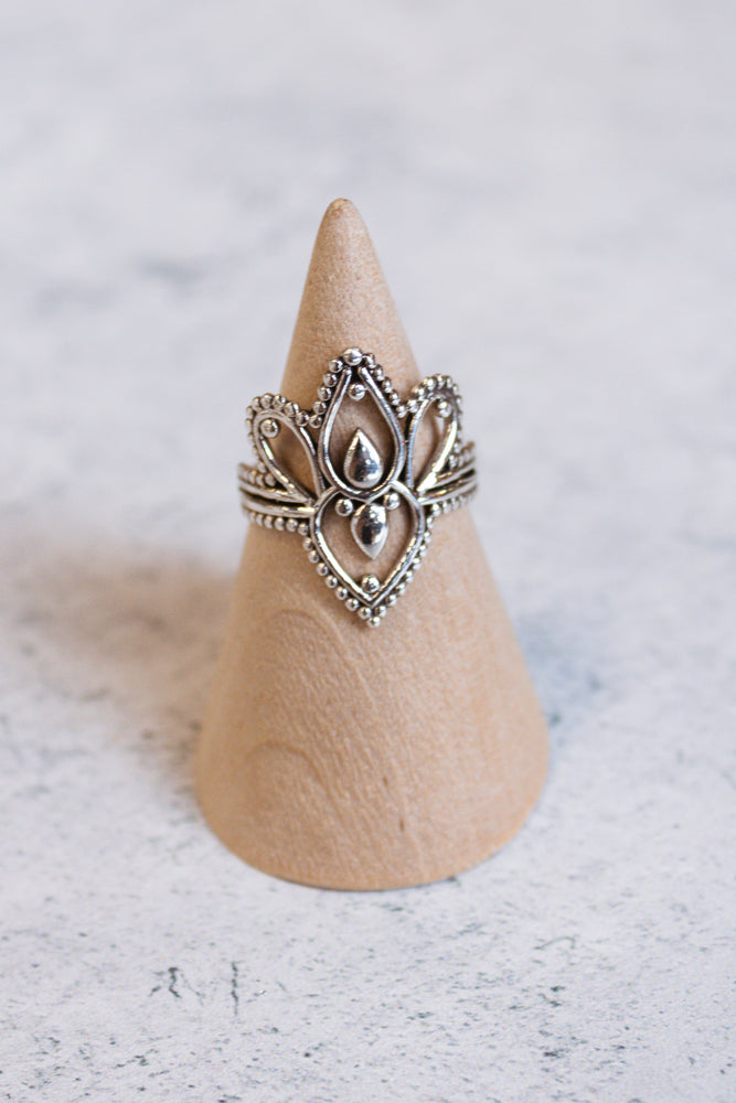 Sterling Durga Ring