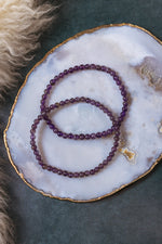 Amethyst Beaded Bracelet - 4mm