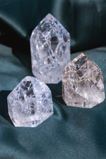 Crackle Quartz Towers