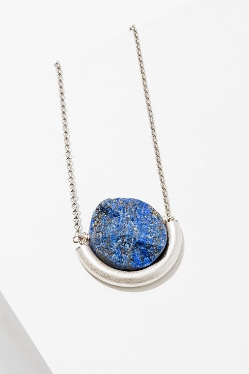 Lapis Sun and Moon Necklace