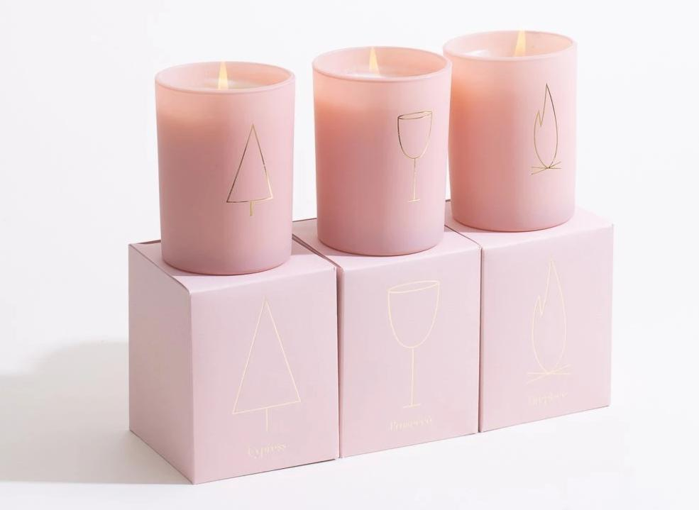 Pink Winter Candle Collection