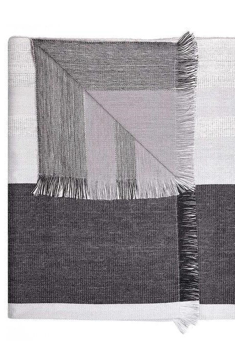 Monochrome Reversible Alpaca Throw