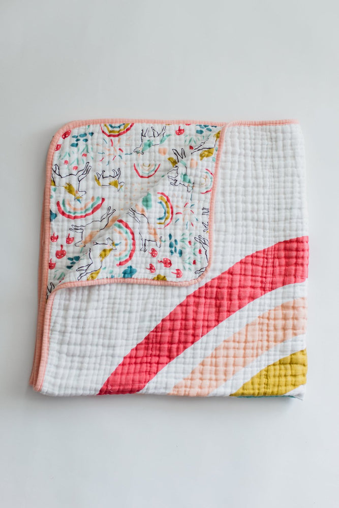 Unicorn Land Muslin Quilt