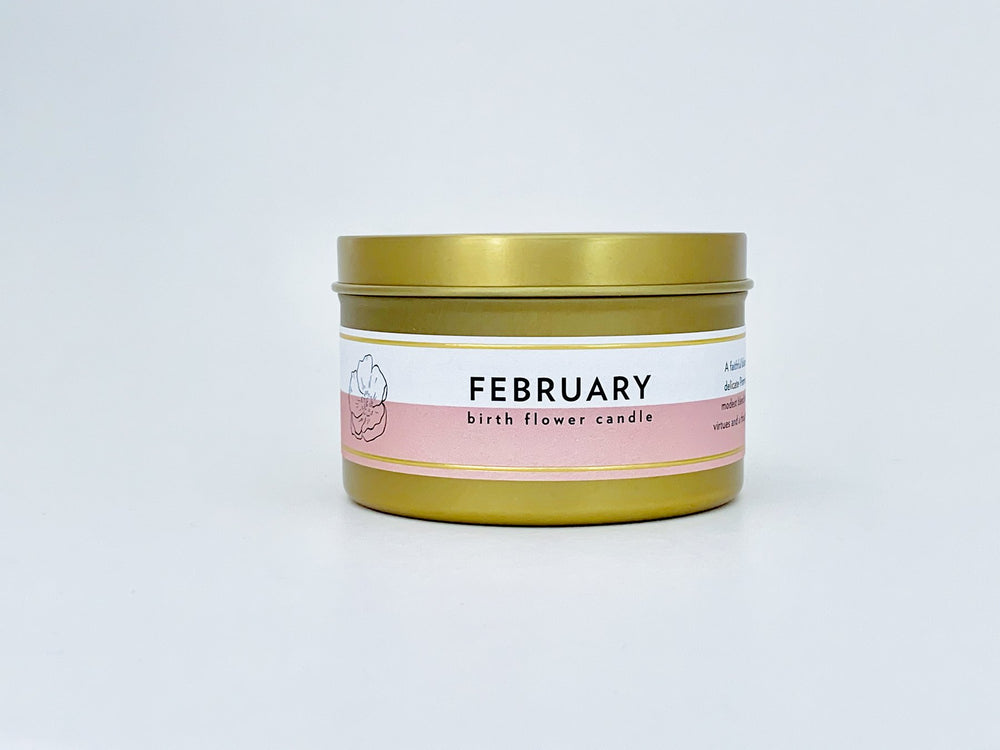 Birth Month Flower Candle