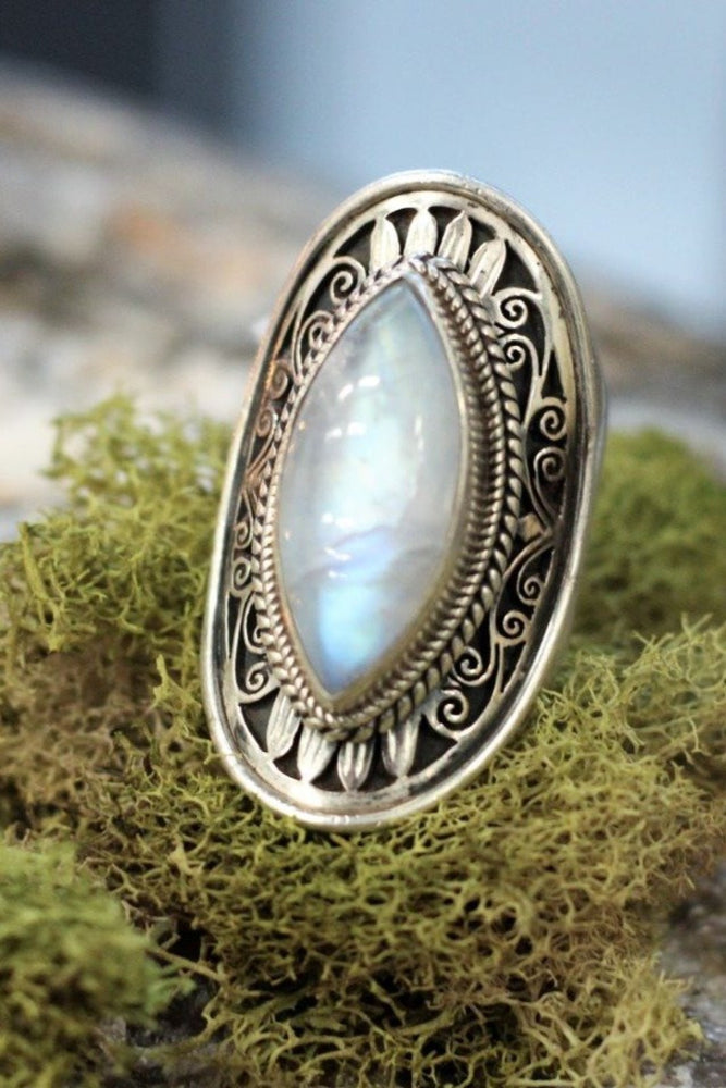 Nepal Sterling Moonstone Ring