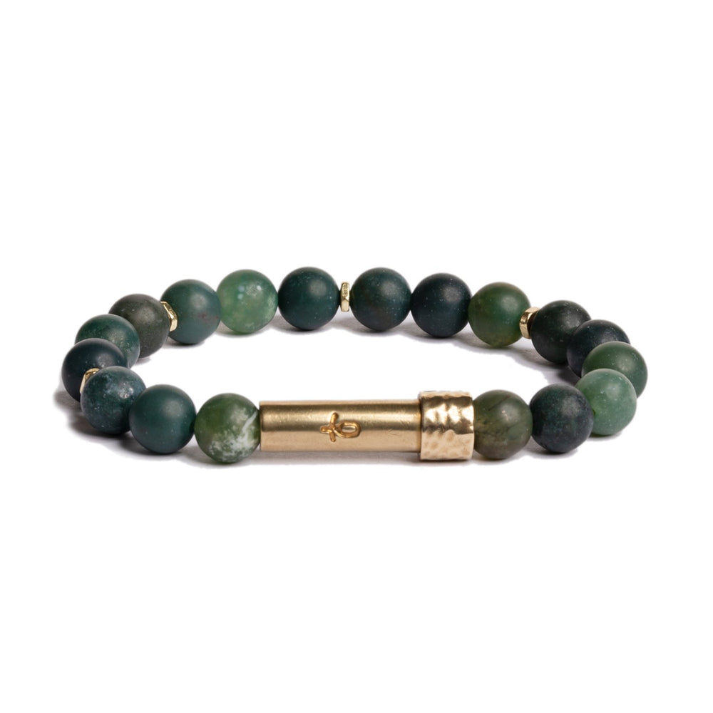 Matte Grass Agate Intention Bracelet