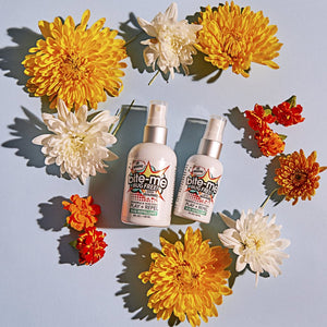 B Bite Me Bug Free all natural, chemical free and DEET free original Spray + Repel formula. Repels Mosquitoes, Lice + Ticks. Bug Spray and Insect Repellent. Luxurious all natural ingredients: paraben free, phalate free, cruelty free, vegan, GMO free. ITE ME BUG FREE; ALL NATURAL BUG REPELLENT; BUG SPRAY; DEET FREE; GMO FREE; SENSITIVE SKIN; BABY; ALCOHOL FREE; VEGAN; CRUELTY FREE; GENTLE; TRAVEL SIZE; MICA; SPARKLES