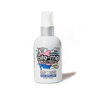 BITE ME BUG FREE; ALL NATURAL BUG REPELLENT; BUG SPRAY; DEET FREE; GMO FREE; SENSITIVE SKIN; BABY; ALCOHOL FREE; VEGAN; CRUELTY FREE; GENTLE; TRAVEL SIZE