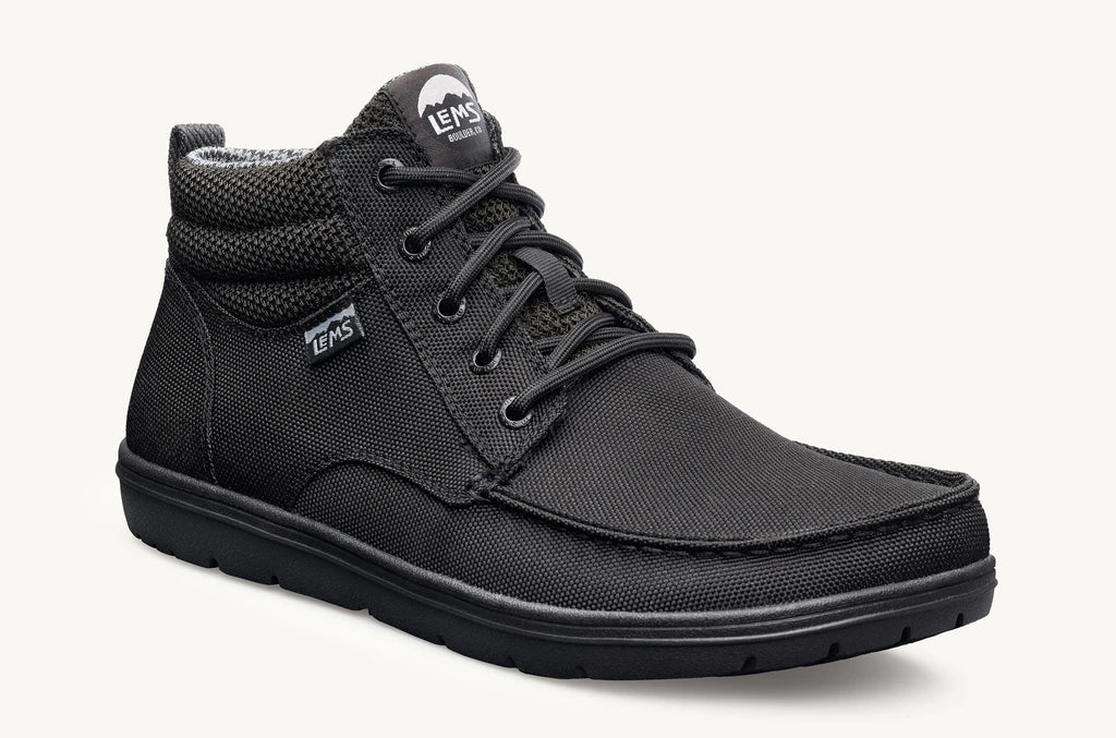 Lems Boulder Mid Boot Unisex UK Sizes - Jet Black