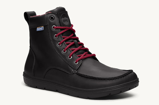 Lems Boulder Boot Leather UK Sizes- Raven Black