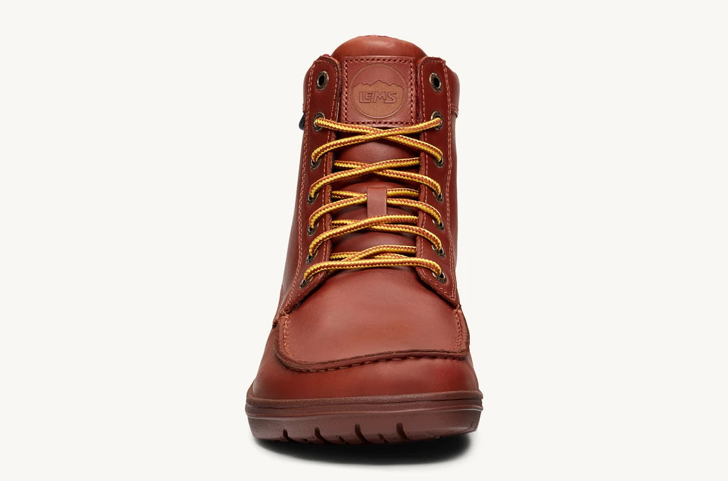 Lems Boulder Boot Leather UK Sizes- Russet Brown