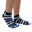 ToeToe Essential Anklet Trainer Fun Socks - Striped Denim