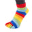 ToeToe Essential Anklet Trainer Fun Socks - Rainbow